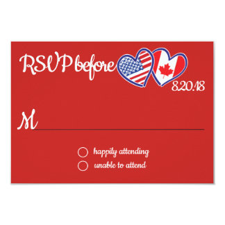 American Canadian Love Response Card