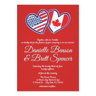 American Canadian Love Wedding Invitation