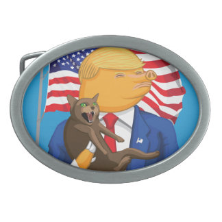 American Catastrophe Oval Belt Buckles