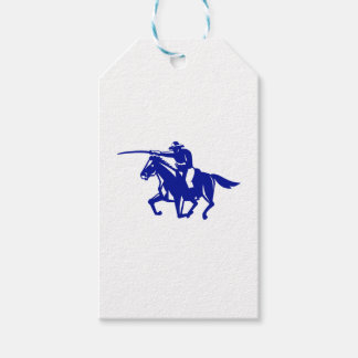 American Cavalry Charging Retro Gift Tags