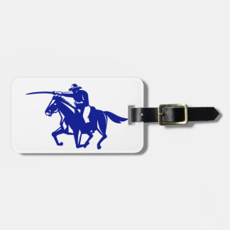 American Cavalry Charging Retro Luggage Tag