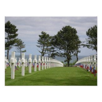American Cemetery at Normandy Poster