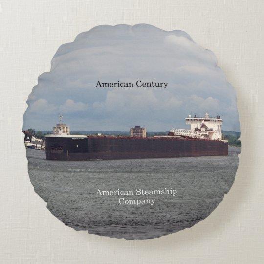 American Century round pillow