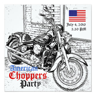 American Choppers July 4 Party Invitation