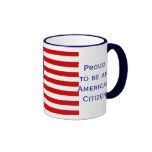 American Citizen Flag Ringer Coffee Mug by Janz