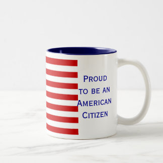 American Citizen Flag Two Tone Coffee Mug by Janz