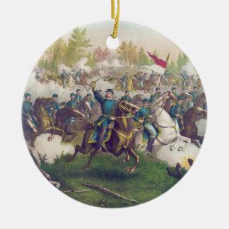 American Civil War Battle of Cedar Creek 1864 Round Ceramic Ornament