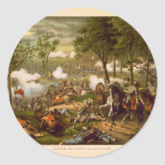 American Civil War Battle of Chancellorsville Classic Round Sticker