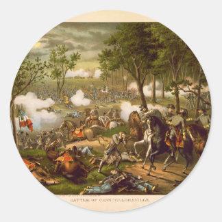 American Civil War Battle of Chancellorsville Round Sticker