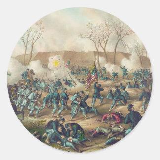 American Civil War Battle of Fort Donelson 1862 Round Sticker