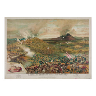 American Civil War Battle of Missionary Ridge Poster