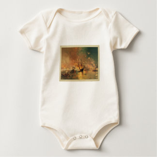American Civil War Capture of New Orleans Baby Bodysuits