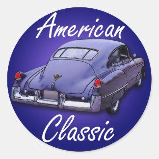American Classic 1949 Cadillac Round Sticker