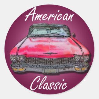 American Classic 1960 Cadillac Round Sticker