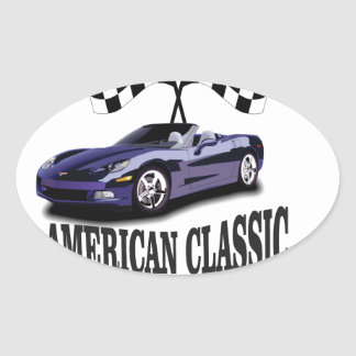 american classic blue rider oval sticker