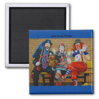 American Clown Museum & School Lake Placid Florida Square Magnet