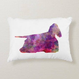 American Cocker spaniel 01 in watercolor 2 Accent Pillow