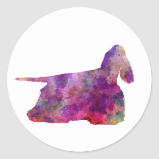 American Cocker spaniel 01 in watercolor 2 Classic Round Sticker