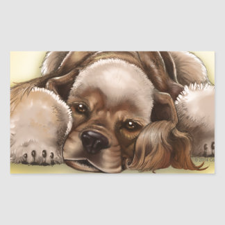 American Cocker Spaniel Buff Cocker Dog Sticker
