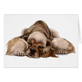 American Cocker Spaniel Buff Cocker Greeting Card