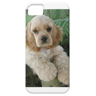 American Cocker Spaniel Dog And The Green Fern Case For The iPhone 5