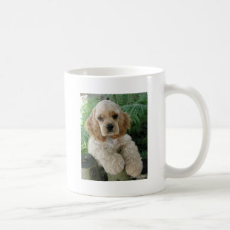 American Cocker Spaniel Dog And The Green Fern Coffee Mug