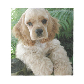 American Cocker Spaniel Dog And The Green Fern Notepad