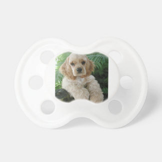 American Cocker Spaniel Dog And The Green Fern Pacifier