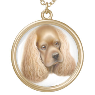 American Cocker Spaniel Dog Necklace