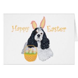 American Cocker Spaniel Easter Card