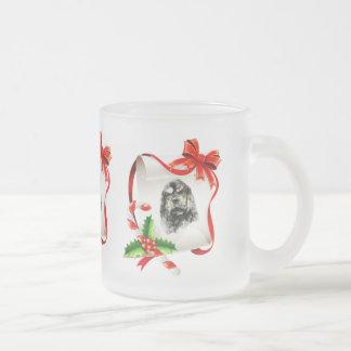 American Cocker Spaniel Frosted Glass Coffee Mug