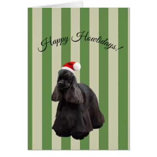 American Cocker Spaniel Holiday Card