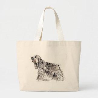 American Cocker Spaniel Jumbo Tote Bag