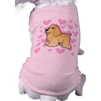 American Cocker Spaniel Love Doggie T-shirt