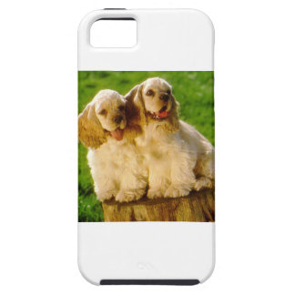 American Cocker Spaniel Puppies On A Stump Case For The iPhone 5