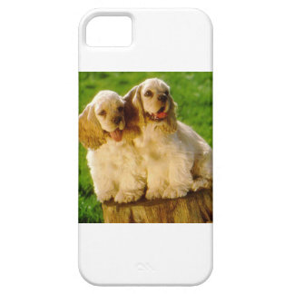 American Cocker Spaniel Puppies On A Stump iPhone 5 Covers