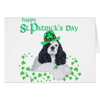 American Cocker Spaniel St. Patrick's Day Card