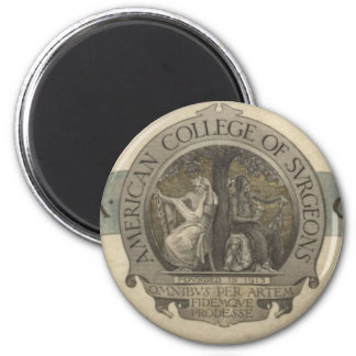 American College of Surgeons Seal 2 Inch Round Magnet