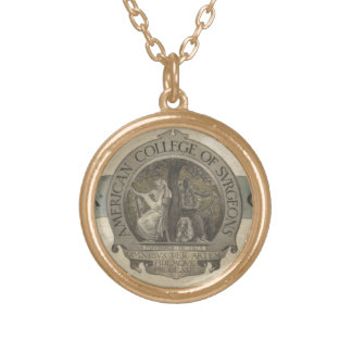 American College of Surgeons Seal Gold Plated Necklace
