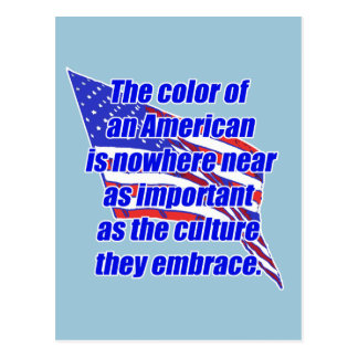American color or culture postcard