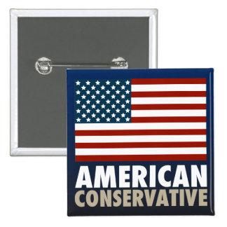 American Conservative 2 Inch Square Button