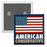American Conservative Pinback Buttons