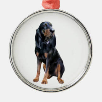 American Coon Hound - Black and Tan Metal Ornament