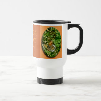 American Copper Butterfly 15 Oz Stainless Steel Travel Mug