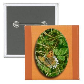 American Copper Butterfly Pin