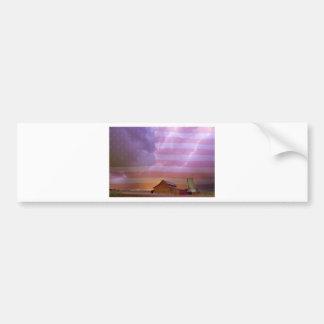 American Country Stormy Night Bumper Sticker