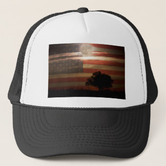 American Country Supermoon Trucker Hat