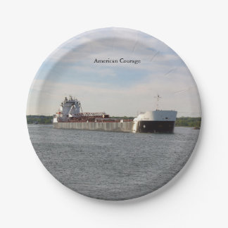 American Courage paper plate