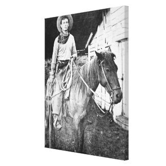 American cowboy in Kansas, c.1880 (b/w photo) Canvas Print