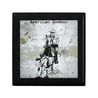 American Cowboy Rodeo Western Horse Gift Box